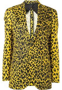 R13 Blazer Animal Print - Amarelo