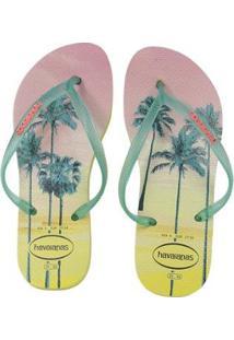 dcc6b2ef3b274f Chinelo Slim Feminino Havaianas Amarelo Praia Feminino-Amarelo - Paisage