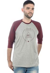 Camiseta Multcaps Mxc 015 Cinza/Vinho