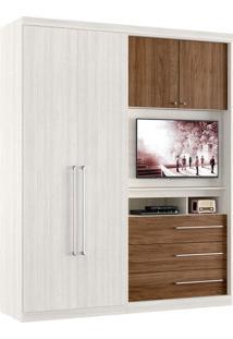Guarda-Roupa / Roupeiro Thb Brilliance Plus, 4 Portas, 3 Gavetas, Painel Para Tv