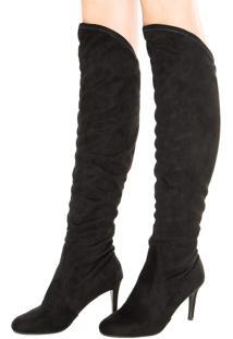 Bota Dafiti Shoes Over Knee Stretch Preto