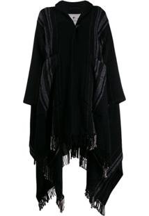 Woolrich Pelerine Oversized - Preto