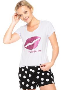 Pijama Espaço Pijama Kiss Branco/Preto