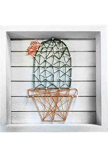 Quadro String Art- Branco & Verde- 20,3X20,3X5Cmurban