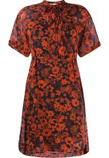 Mcq Alexander Mcqueen Floral Print Dress - Vermelho