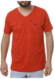 Camiseta Manga Curta No Stress Masculina - Masculino-Coral
