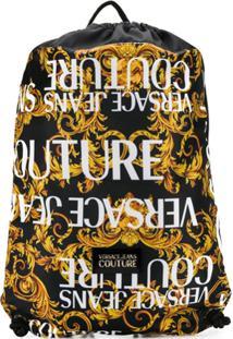 Versace Jeans Couture Mochila Com Estampa Brocado - Amarelo