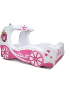 Mini Bicama Cinder - Cama Carro - Branco/Pink/Rosa - Menina - Dafiti