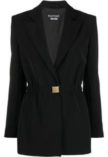 Boutique Moschino Blazer Com Fivela E Abotoamento Simples - Preto