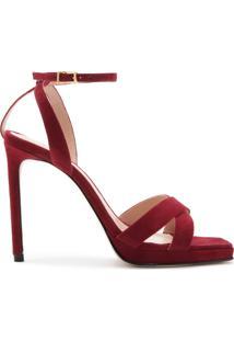 Sandália Salto Nobuck Red | Schutz
