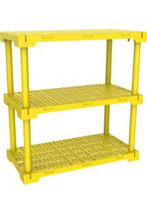 Estante Cube 3 Amarela