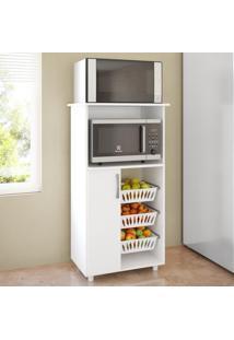 Armário De Cozinha Fruteira Para Forno E Micro 1 Porta 0260 Branco - Genialflex