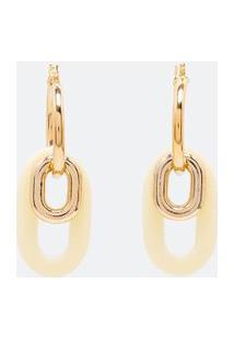 Argola Com Pingento De Elos | Accessories | Dourado | U