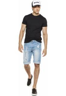 Camiseta Pocket Masculina Mumo - Masculino-Preto