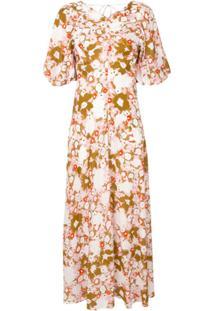 Lee Mathews Vestido Nula Montel Com Estampa Floral - Estampado