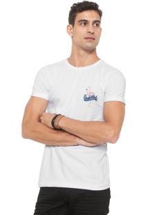 Camiseta Rock&Soda Estampada Branca