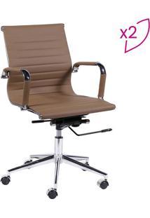 Jogo De Cadeiras Office Eames Esteirinha- Caramelo & Praor Design