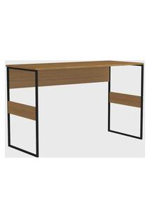 Mesa Office Madrid 120Cm Frassino Almendra Zaile Emobilia Marrom