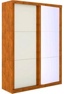 Guarda Roupa 2 Portas Com Espelho Pratico - Robel - Nature / Off White