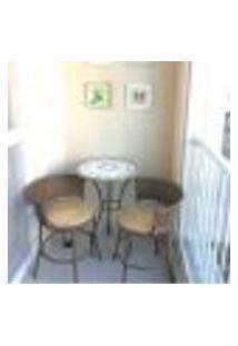 Conjunto De Mesa E Cadeiras Mosaico Florido Varanda Gourmet
