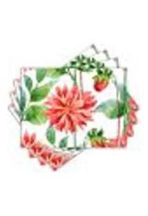 Jogo Americano - Flor Com 4 Peças - 427Jo