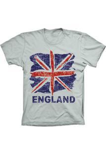 Camiseta Lu Geek Plus Size England Flag Prata