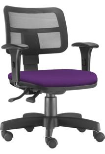 Cadeira Giratã³Ria Executiva Lyam Decor Zip Suede Roxo - Roxo - Dafiti