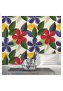 Papel De Parede Autocolante Rolo 0,58 X 3M - Floral 552