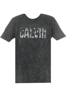 Camiseta Ck Calvin Indigo Masculino - Masculino-Preto