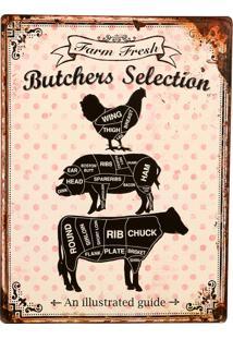 Placa De Metal Decorativa Vintage Butches