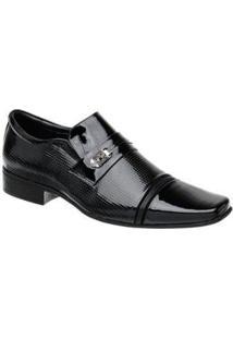 Sapato Social Masculino Em Couro Bico Quadrado Jota Pe - Masculino-Preto