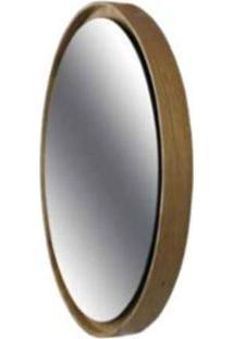 Espelho Elisa Prata Moldura Lamina Louro Freijo 65Cm - 47319 - Sun House