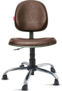 Cadeira Executiva Giratória Cromada Courvin Marrom
