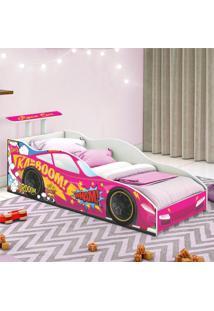 Cama Carro Corredor Solteiro Pink Casah - Rosa - Dafiti
