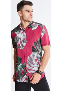 Camisa Estampa Folhagens
