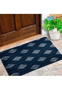 Capacho Carpet Triangulos Separados Azul