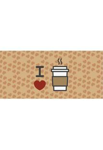 Tapete Transfer Café- Marrom Claro & Branco- 90X40Cmtapetes Junior