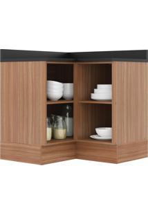 Armário De Cozinha Canto 2 Portas 5407R Nogueira/Malt - Multimóveis