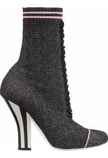 Fendi Ankle Boot Canelada - Preto