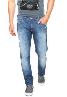 Calça Jeans Forum Paul Skinny Puídos Azul