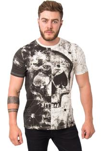 Camiseta Royal Brand Skull Off White