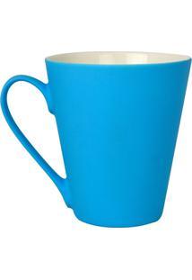 Caneca Soft Touch Em Cerâmica Azul