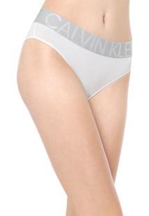 Calcinha Calvin Klein Underwear Tanga Statement Branca