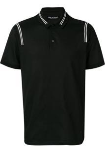 Neil Barrett Contrast Stripe Polo Shirt - 524