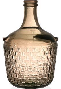 Garrafa Decorativa Em Vidro Ambar Colonial 4 Litros