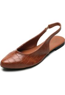 Sapatilha Dafiti Shoes Croco Caramelo - Caramelo - Feminino - Dafiti