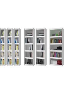 Armários Abertos Para Livros Bl Branco - Brv