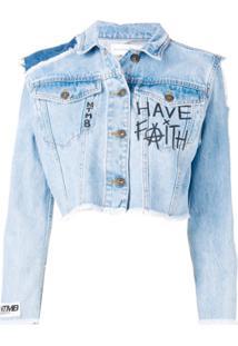 Faith Connexion Jaqueta Cropped - Azul