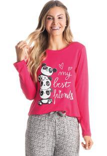 Pijama Panda Friends Feminino