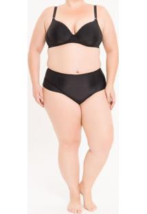 Calcinha Plus Size Tanga Lateral Dupla Preta Underwear Calvin Klein - 1Xl